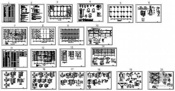 昆明某新建库房结构图