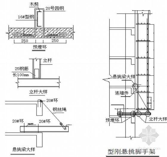 [广东]剪力墙结构住宅楼型钢悬挑扣件式钢管脚手架专项施工方案(附计算及节点图)