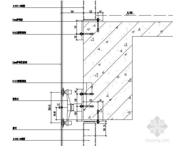 MQ1三层楼板纵剖节点图一
