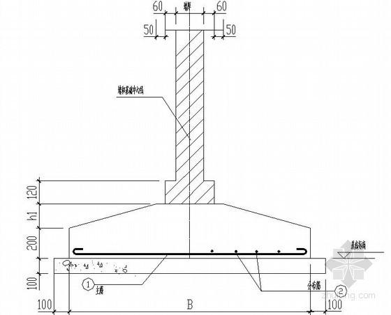 墙下条形基础节点构造详图