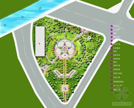 北京电子城西区科技公园景观设计方案