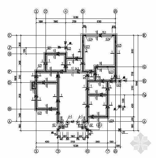某二层砖混别墅结构图纸
