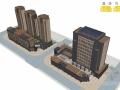 [江苏]高层板式商务楼建筑设计方案文本(含两套设计方案)
