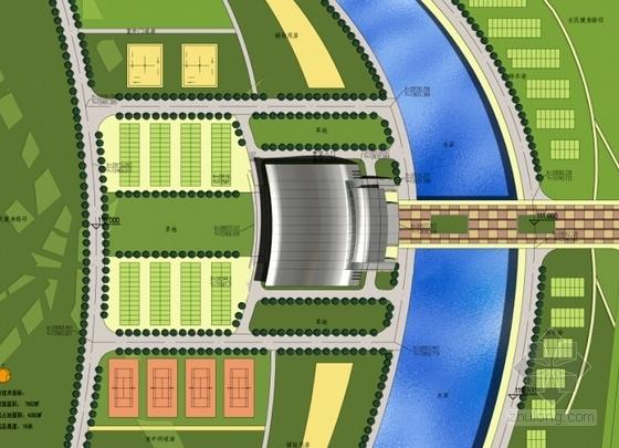 [湖北]市级体育场项目设计方案文本(知名设计院)-市级体育场项目设计方案总平面图