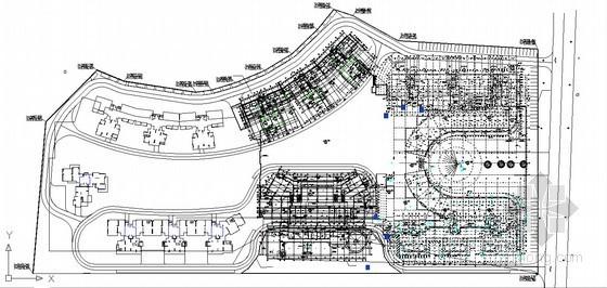 [深圳]高档小区施工总平面布置图(CAD格式)
