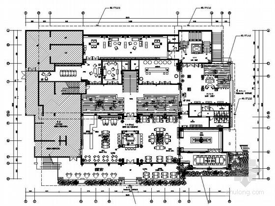 [原创]浪漫小资时尚多主题餐厅室内施工图(含高清效果图)