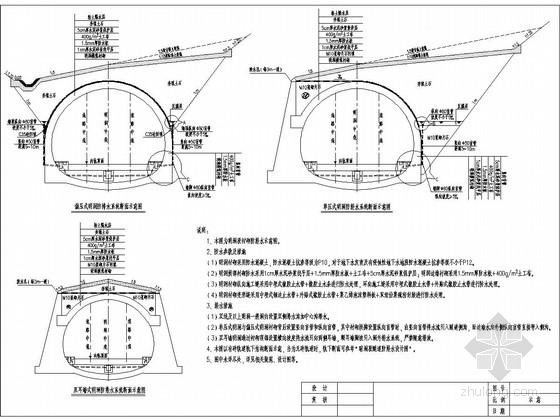 [西部]改建铁路隧道工程施工图设计160张(洞室 洞门)