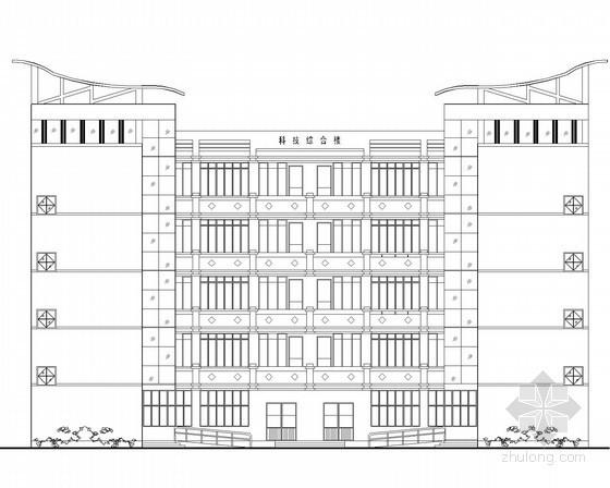 某小学五层科技综合楼建筑扩初图