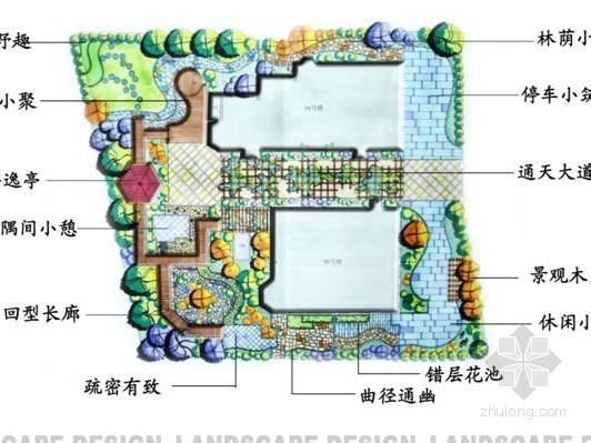 [北京]独栋别墅庭院景观设计方案