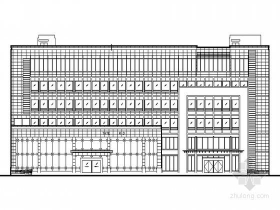 [怀化]某六层生产调度大楼建筑施工图