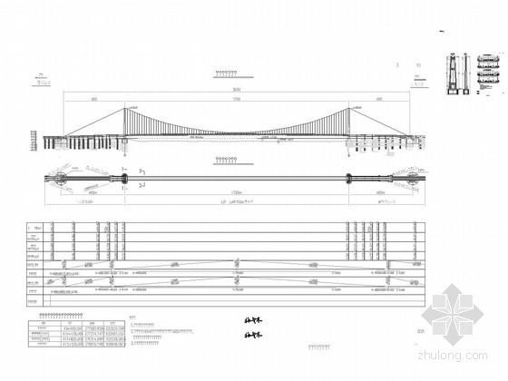 [湖北]主跨1700米双层公路悬索桥长江大桥工程主桥及引桥工程设计图纸2353张