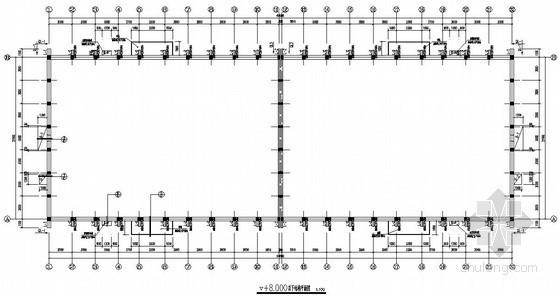 [浙江]砖混结构仓库结构施工图(拱板结构屋面 墙下条形基础)