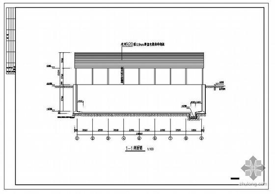 某4000立方米纯地下水池建筑结构图