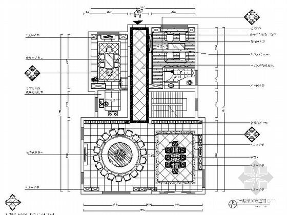 [苏州]顶级山水独栋中式双层别墅CAD装修图(含效果)