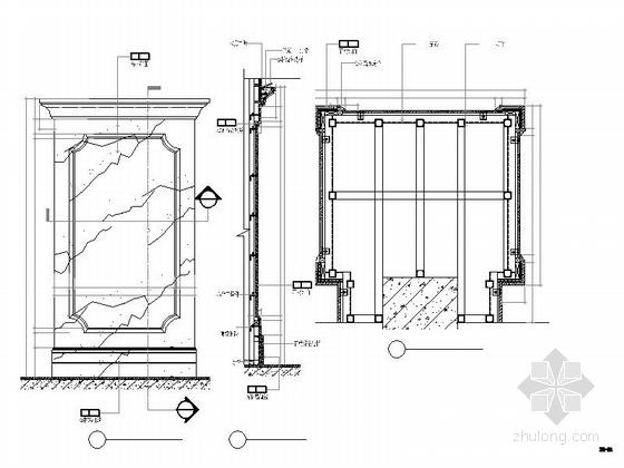 [青岛]欧陆风格三层售楼处室内装修图 节点
