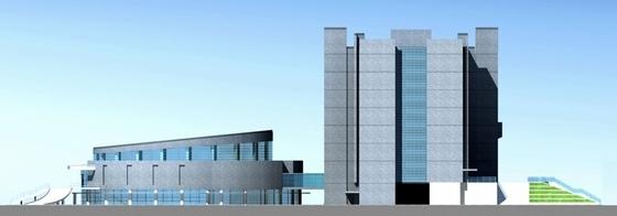 [江苏]时代标志性行政办公建筑设计方案文本-时代标志性行政办公建筑立面图