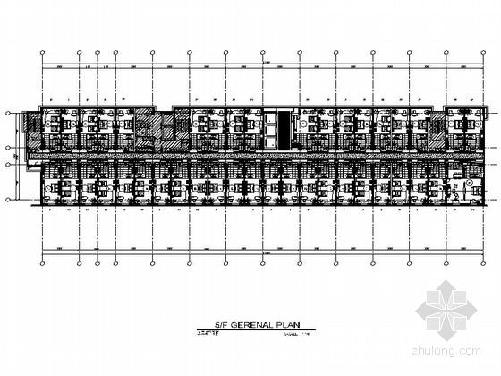 [广东]花都高档现代风格五星酒店客房室内装修施工图(含实景图)