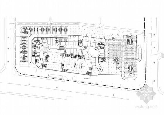 [河北]大型商业广场室内步行街公共空间装修设计方案(含高清效果图 推荐下载!)