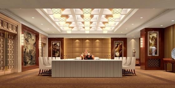 [河北]奢华古典山水园林式宾馆精装修设计方案图会议室效果图