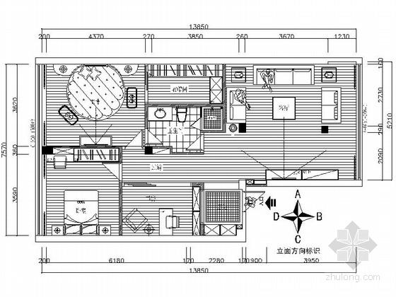 花园公寓现代时尚三居室装修施工图