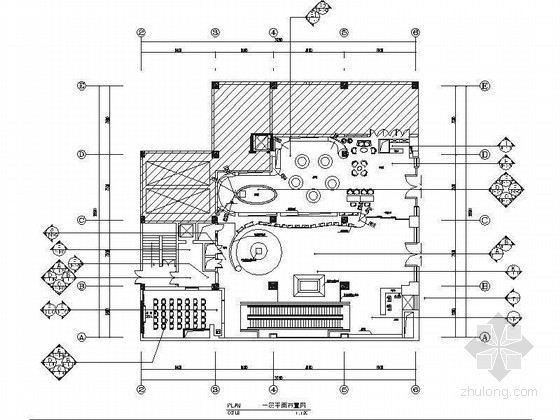 [北京]原创综合医药研究院典雅中式医院装修施工图(含效果)