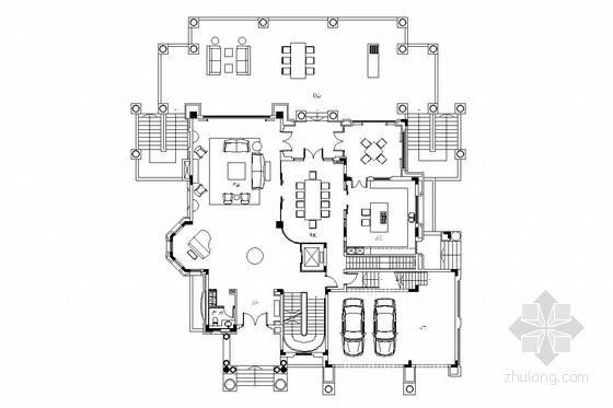 豪华现代风格三层别墅室内装修图(含实景照片)