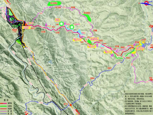 穿风景区地形蜿蜒曲折区段改建二级公路工程预可行性研究报告133页(附方案设计图,投资估算)