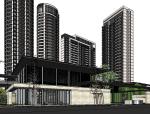 新亚洲新中式风格居住展示区景模型设计