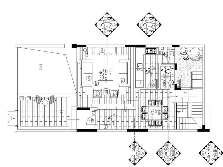 [重庆]梁志天——现代风格五层别墅内部装修全套施工图