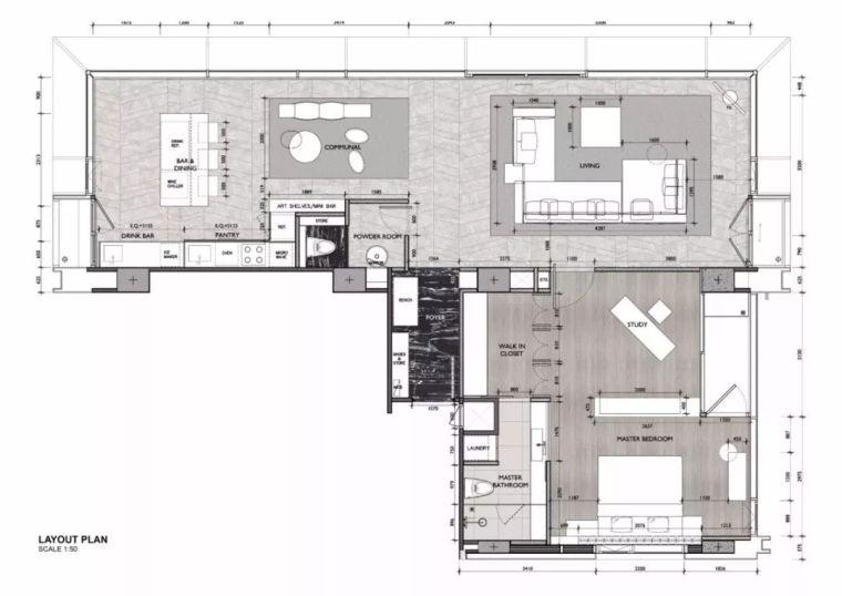 室内设计 130㎡的单身公寓,设计感十足_1