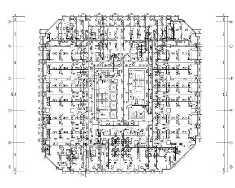 [甘肃]高层建筑给排水施工图(含给排水平面及系统,消防平面及系统,水泵房及卫生间大样等)_5