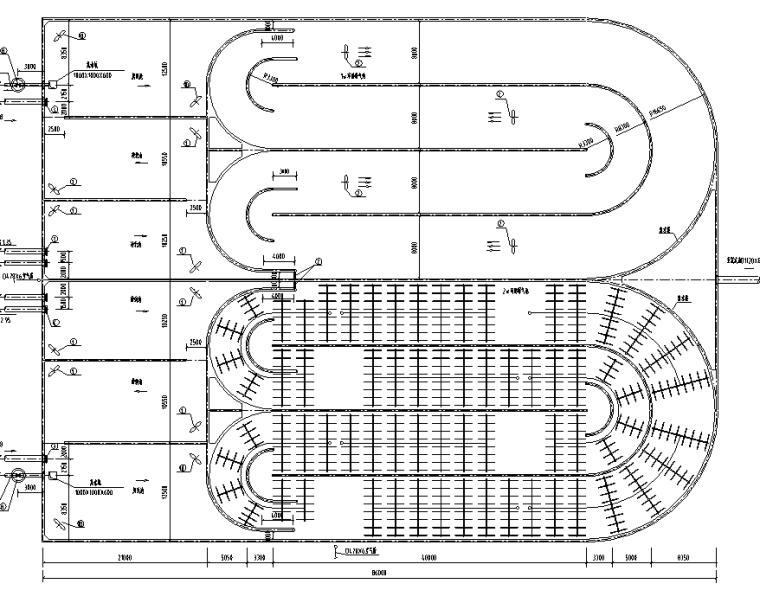 [湖北]污水处理厂水处理工艺设计图(CAD)