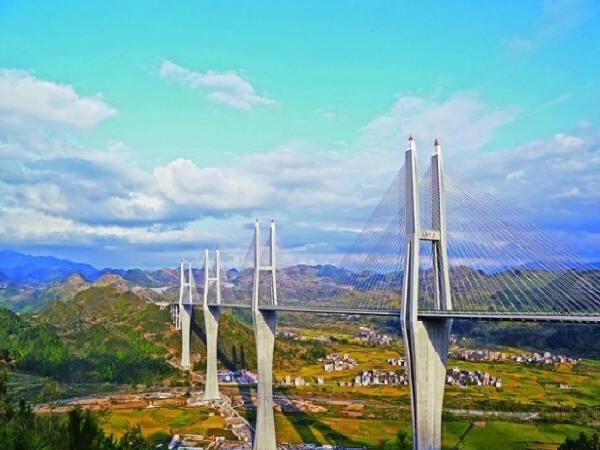 山区地形大跨桥梁复杂多变的桥位风