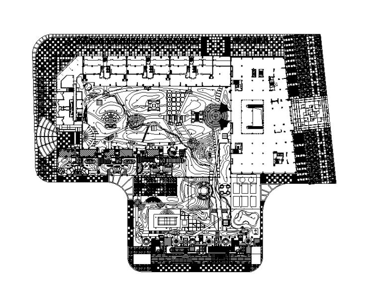 [广东]某大型花园小区全套景观施工图设计(推荐下载)