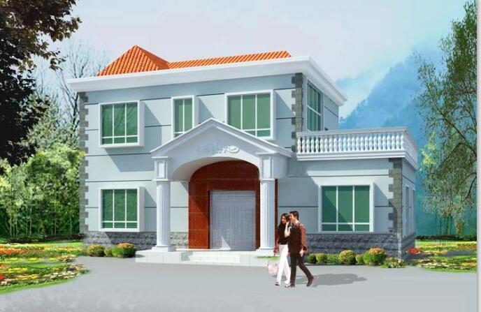 现代风格二层别墅建筑设计文本(包含CAD)