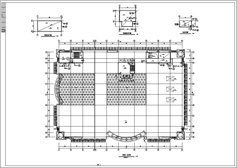 现代多层宾馆酒店建筑设计施工图CAD-现代多层商业建筑设计平面图