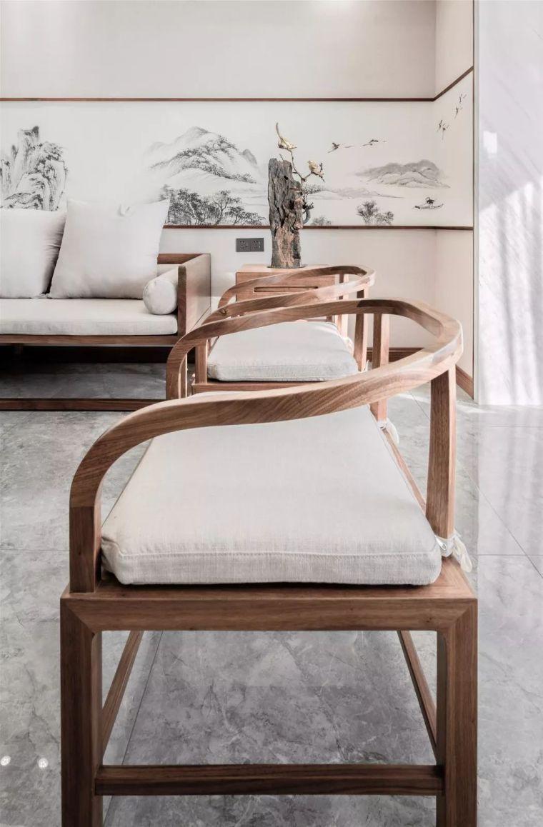 新中式徽派元素山水画为轴线的家装设计_15