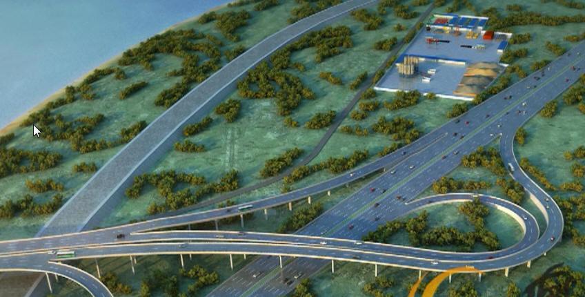 斜拉桥黄河大桥正桥及互通立交引桥工程上下结构施工技术三维动画演示(10分钟)_3