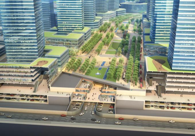 [湖北]生态海绵城市中央绿轴地下立体化商业广场景观绿化设计方案(2017最新)_6