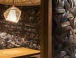 竹条编织的河内日本餐厅