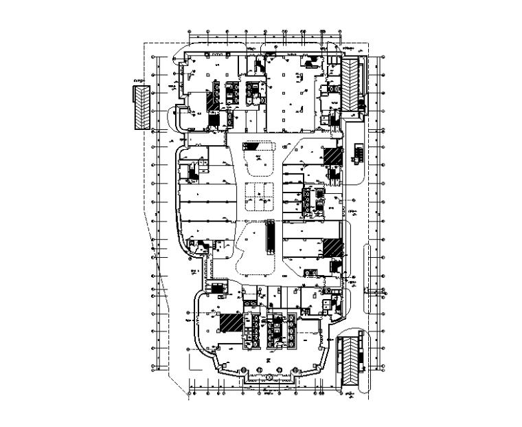 西安商业综合楼裙房给排水施工图