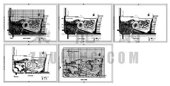 中心广场景观设计平面图-2