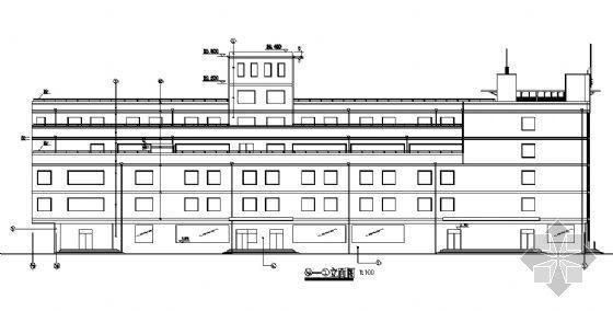 陕西某工人文化宫建筑施工图