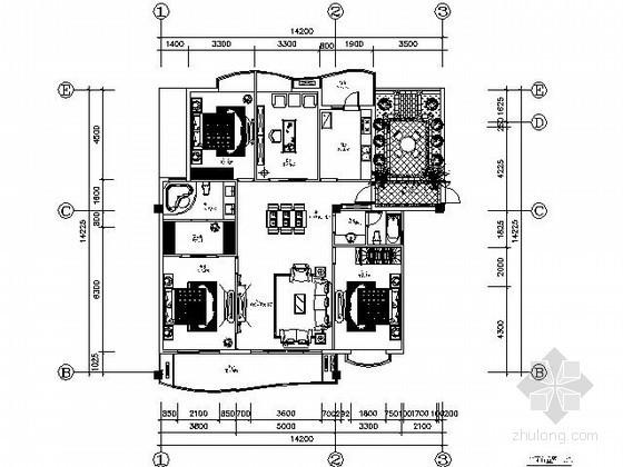 [郑州]四居样板房设计施工图