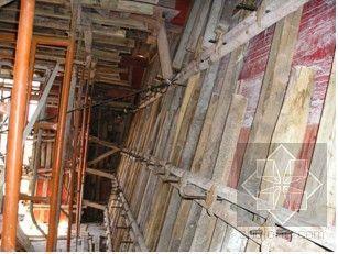 外飘倾斜钢筋混凝土墙施工工法