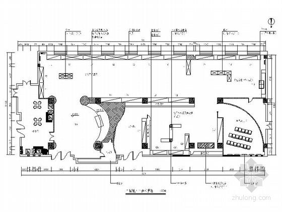 [陕西]信息发布部门现代展示厅室内装修施工图(含效果)