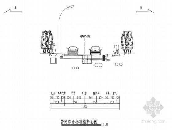 12m宽双车道道路工程电力工程设计套图(11张)