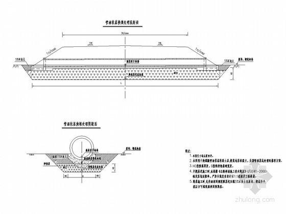 公路工程特殊路基处理设计图(换填处理圆管涵基底软基)