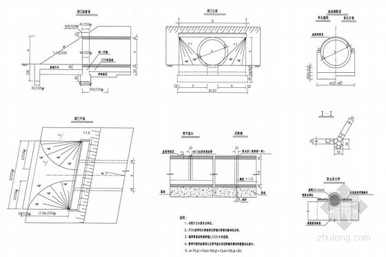 [安徽]水泥砼路面三级公路工程图纸施工图104机械零件二维全套图片