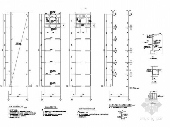 南北地下车库连通道结构施工图